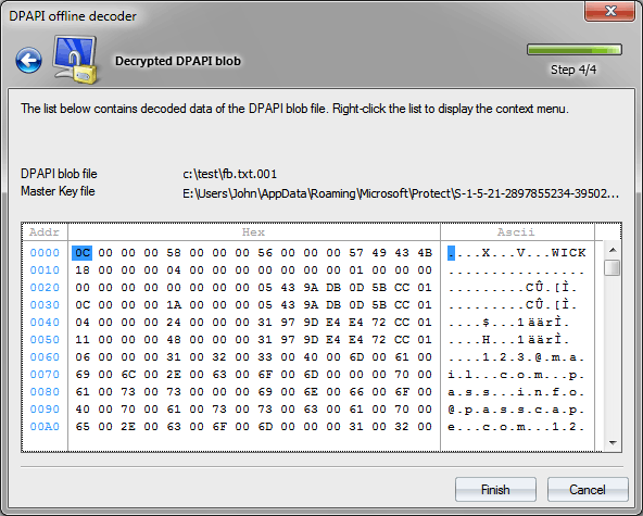 Расшифрованный пароль Facebook
