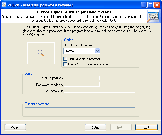 Asterisks password revealer