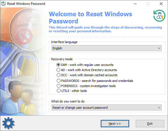 recovering windows password