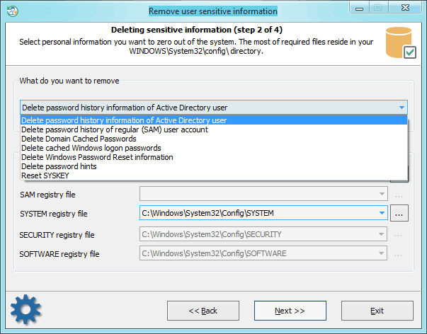 Remove Active Directory password history