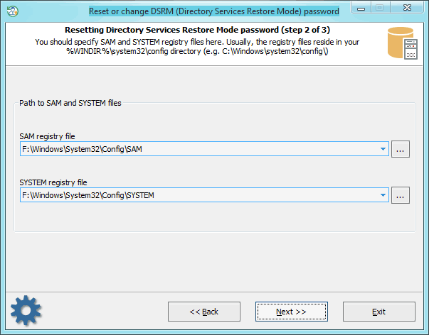 Reset dsrm password