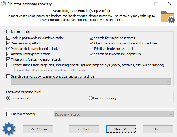 Searching and recovering lost Windows passwords