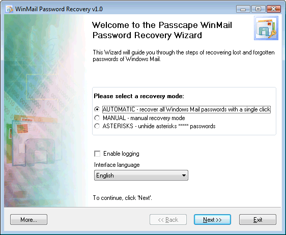 recover, windows, mail, password, login, find, lost, forgotten, asterisk, reveal